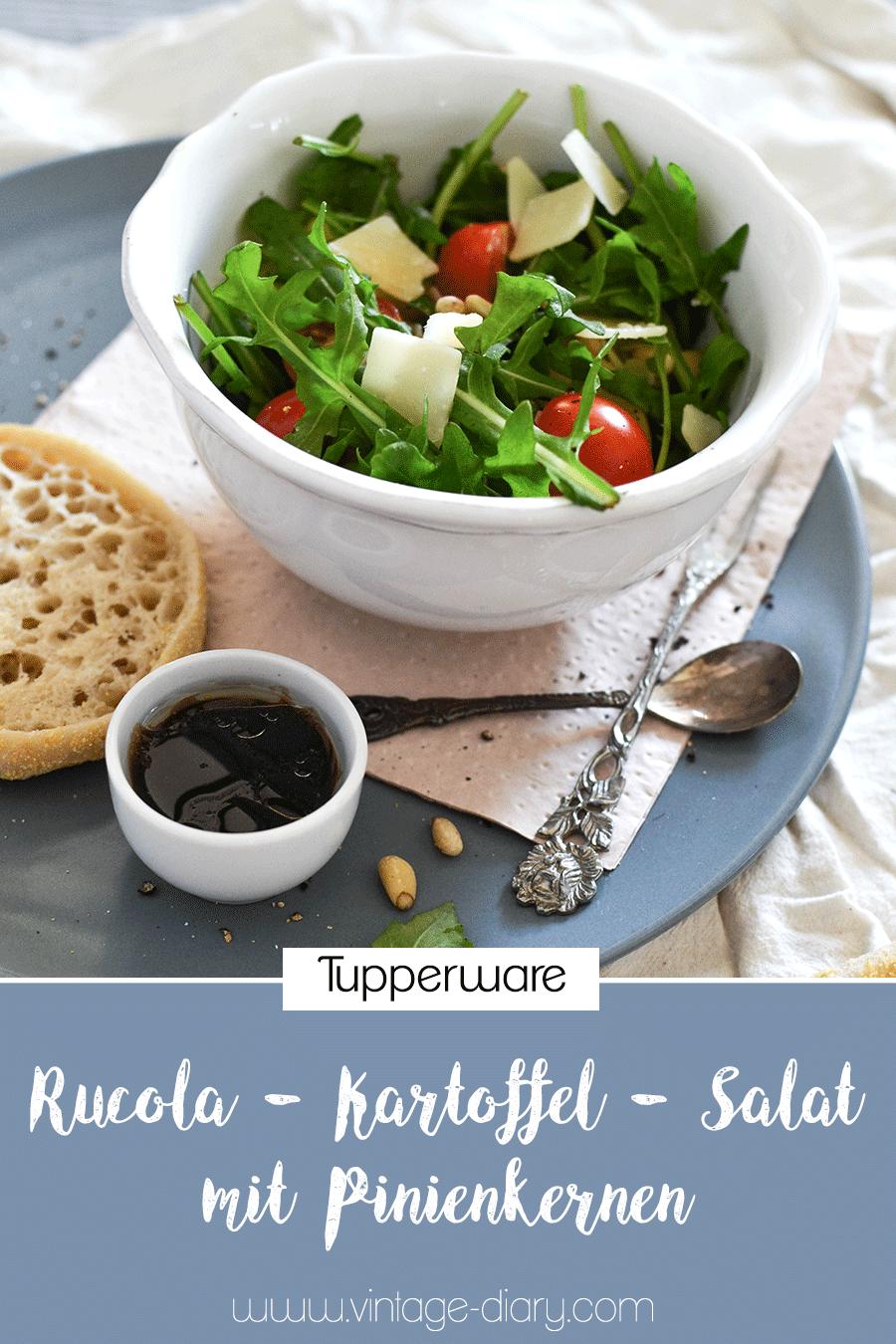 Rucola - Kartoffel - Salat mit Pinienkernen