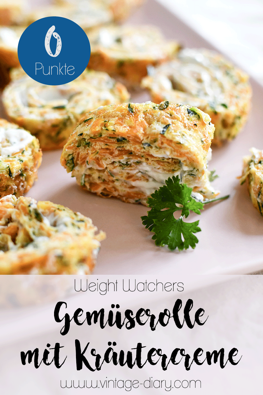 Gemüserolle mit Kräutercreme (Weight Watchers)