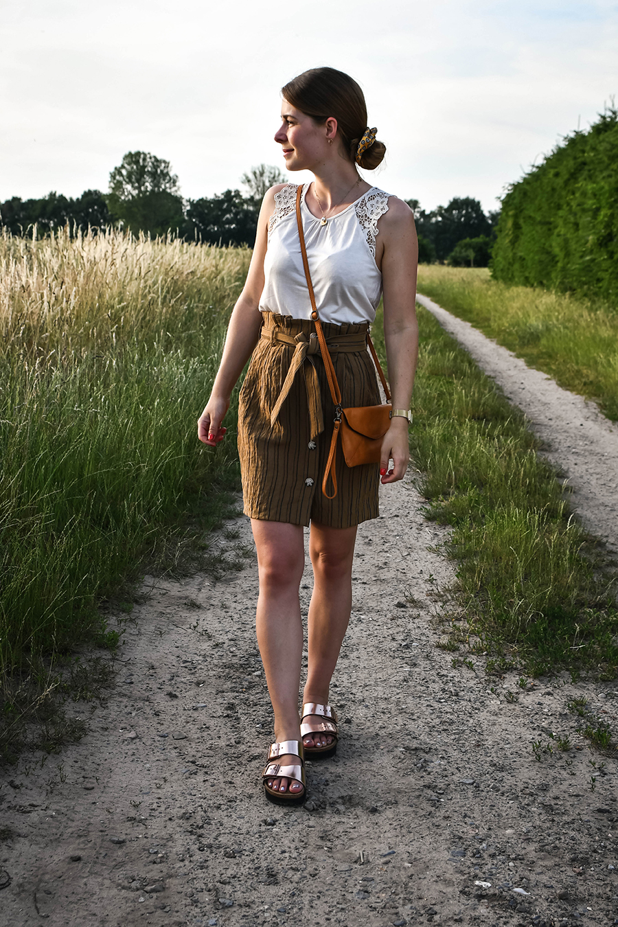 How to wear: Birkenstock - Sandalen mit Plateau