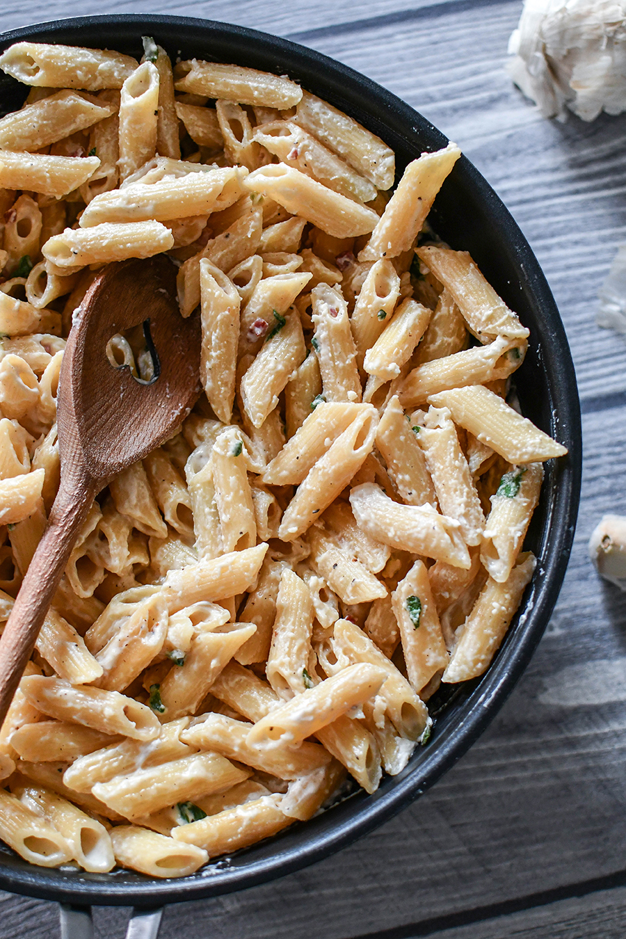 Salbei – Pasta mit Sahnesoße