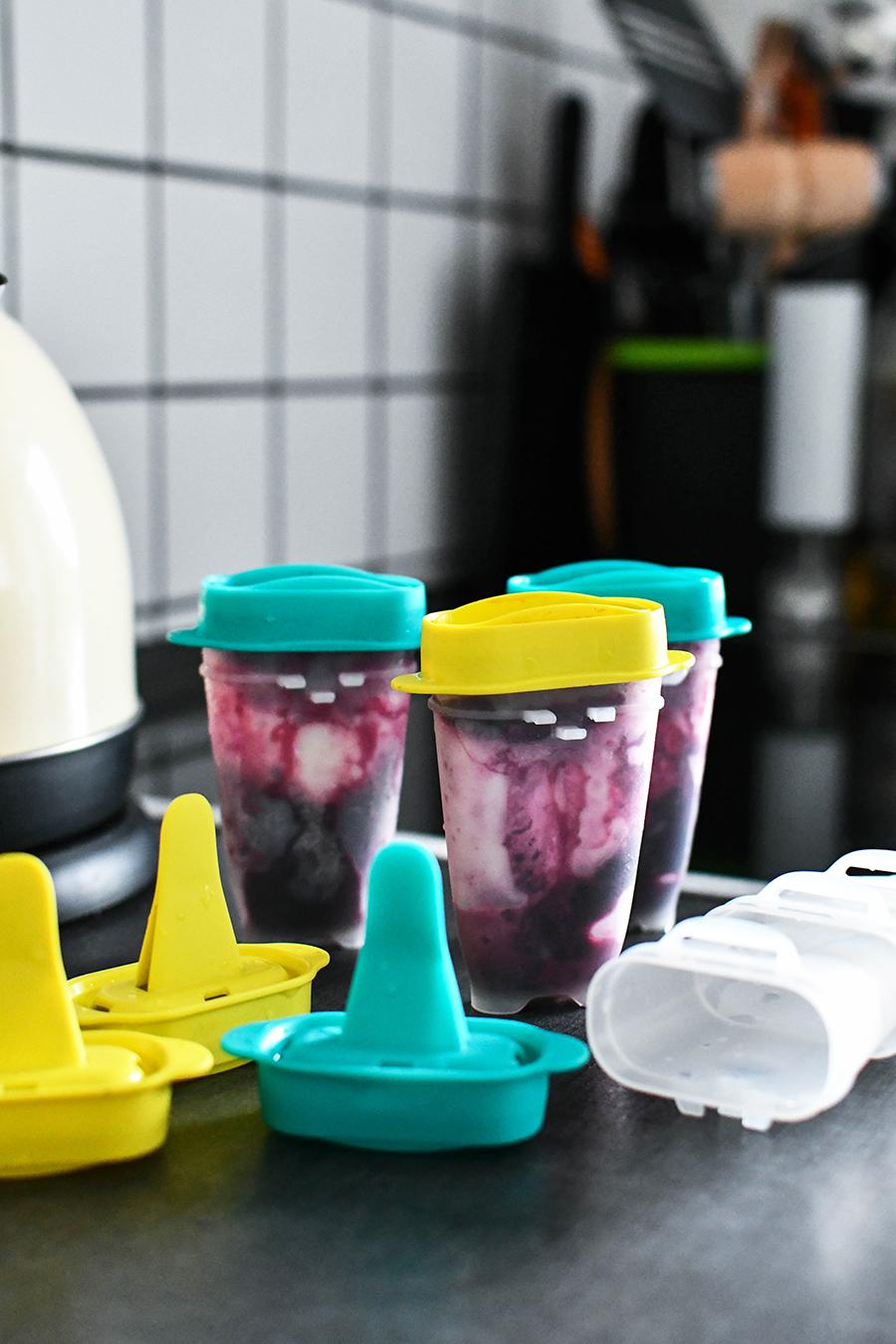 Blaubeer - Joghurt - Limetten - Eis