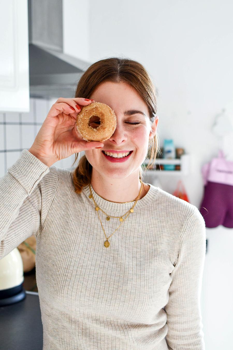 Kürbis-Donuts mit Zimt und Zucker
