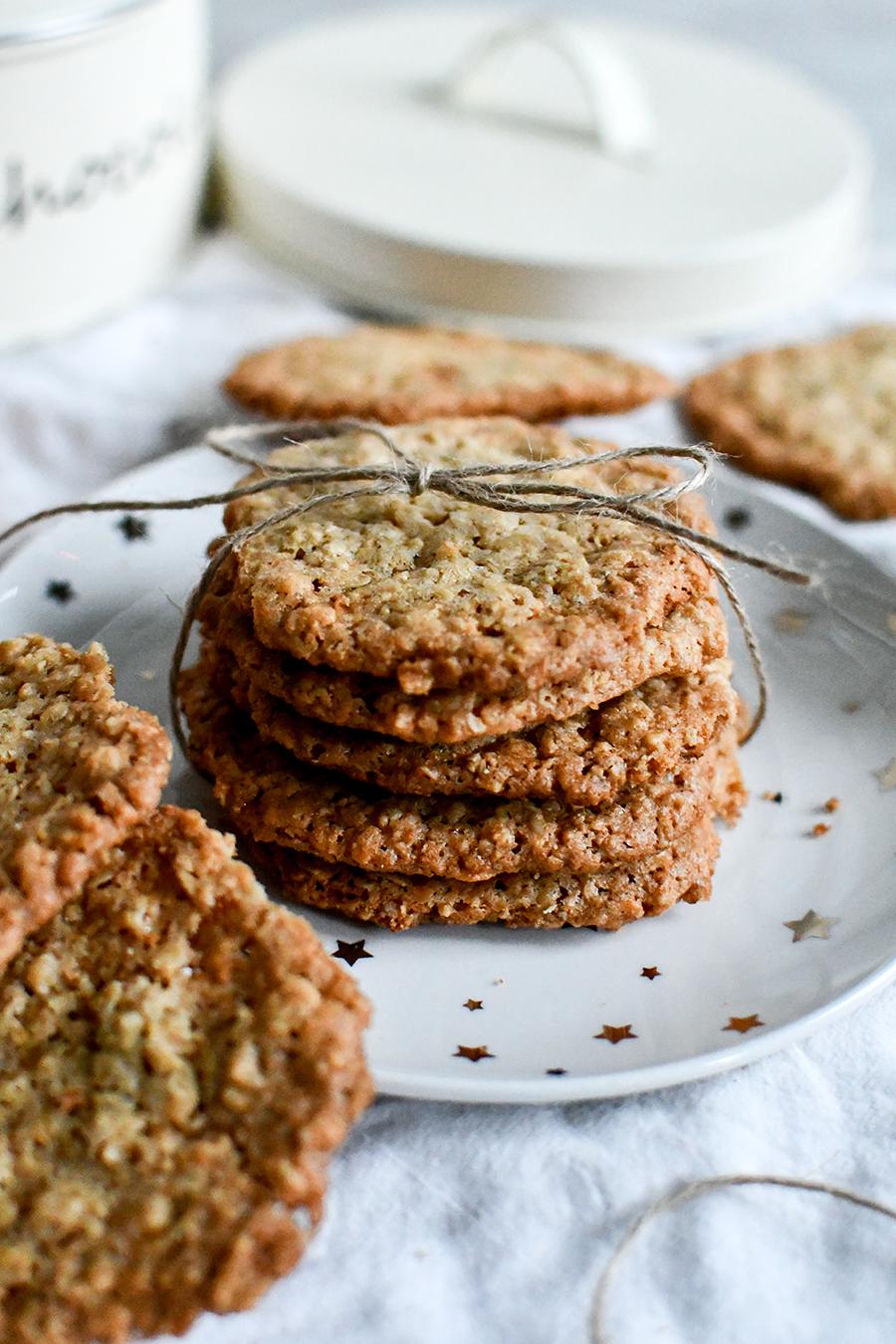 Schnelle Kekse mit Hafer zu Weihnachten